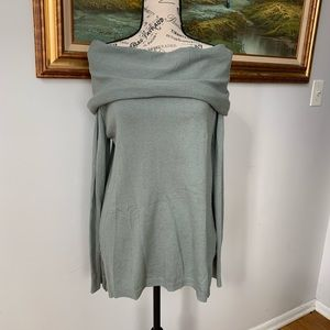 Ruby Moon off the shoulder hi low tunic sweater